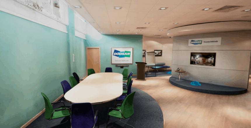 Doosan Babcock virtual meeting area